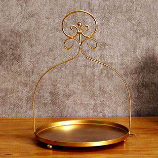 """Cake Stand Vintage Gold 12.5"""" x 9"""""""