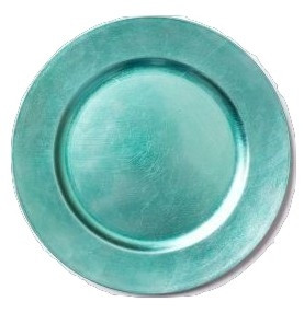 Acrylic Turquoise Charger Plate 13""