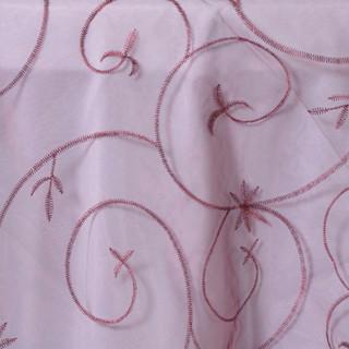 Organza Embroidered Runner Burgundy