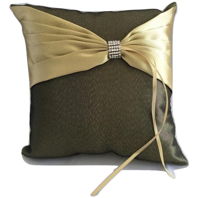 Willow Green Satin Ring Bearer Pillow