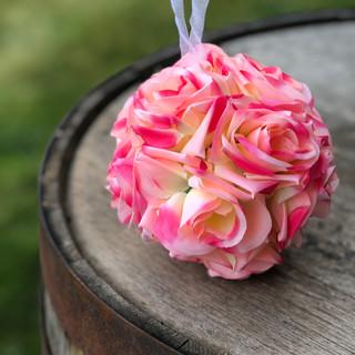 Rose Flower Kissing Ball Rose Pink