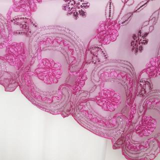 "72"" Fashionista Lace Netting Overlay Fuchsia"