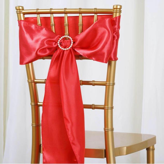 Satin Chair Sash Coral