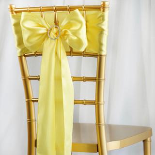 Satin Chair Sash Yellow