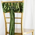 Satin Chair Sash Willow Green