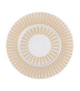 Quantum Gold & White Charger Plate 13""