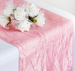 Taffeta Crinkle Runner Rose Quartz