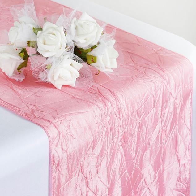 Taffeta Crinkle Runner Rose Quartz