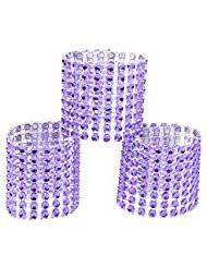 Purple Rhinestone Napkin Ring