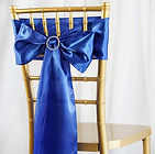 Satin Chair Sash Royal Blue