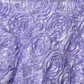 "72"" Grandiose 3D Rosette Satin Overlay Lavender"
