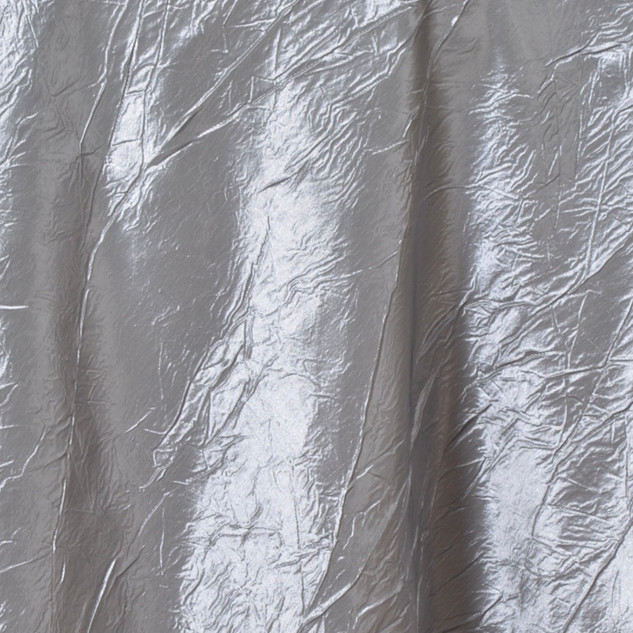 "72"" Taffeta Crinkle Overlay Silver"