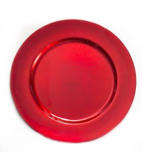 """Acrylic Red Charger Plate 13"""""""
