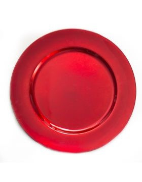 Acrylic Red Charger Plate 13""