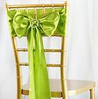Satin Chair Sash Sage Green
