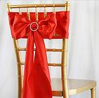 Satin Chair Sash Red