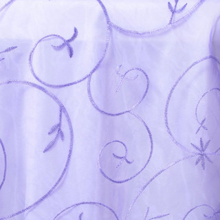 "72"" Organza Embroidered Overlay Purple"
