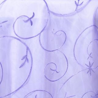 "72"" Organza Embroidered Overlay Purple"