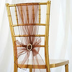 Organza Chair Sash Chocolate