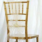 Organza Chair Sash Ivory