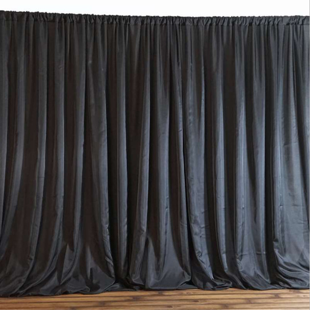 10x20 Chic Inspired Backdrop Curtain Black