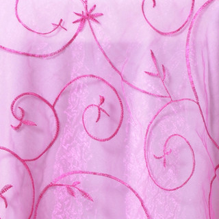 "72"" Organza Embroidered Overlay Fuchsia"