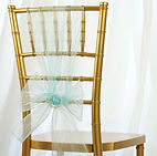Organza Chair Sash Light Blue