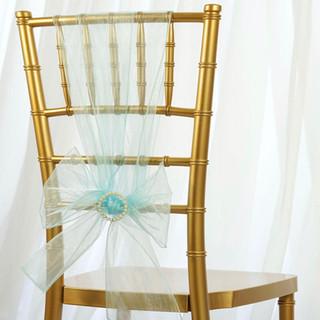 Organza Chair Sash Light Blue