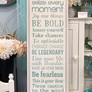 Be Bold Sign Teal & Ivory