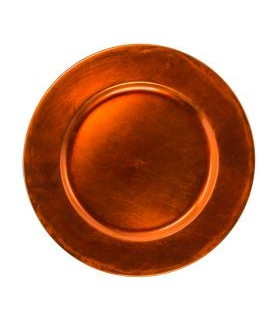 Acrylic Orange Charger Plate 13""