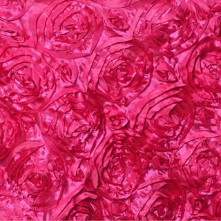 "72"" Grandiose 3D Rosette Satin Overlay Fuchsia"
