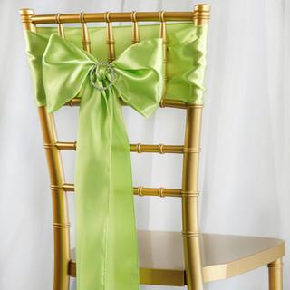Satin Chair Sash Apple Green