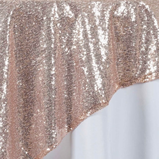 """72"""" Sequin Square Overlay Blush Pink"""