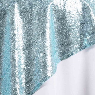 """72"""" Sequin Square Overlay Serenity Blue"""