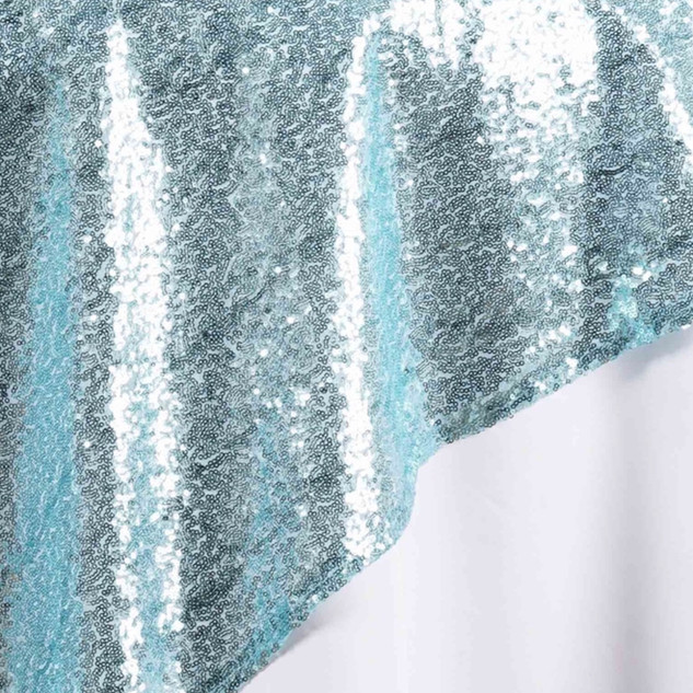 "72"" Sequin Square Overlay Serenity Blue"