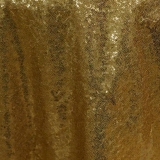 """72"""" Sequin Square Overlay Gold"""