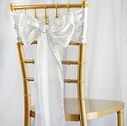 Satin Chair Sash White