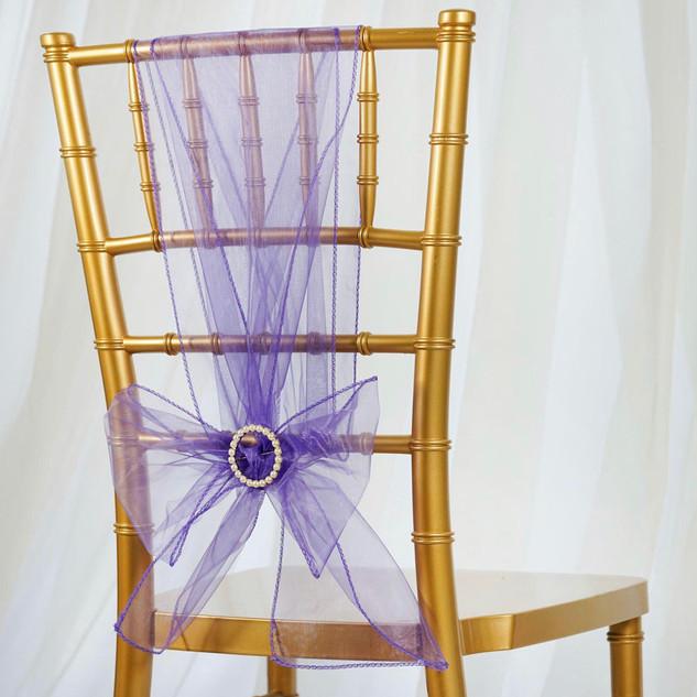 Organza Chair Sash Purple
