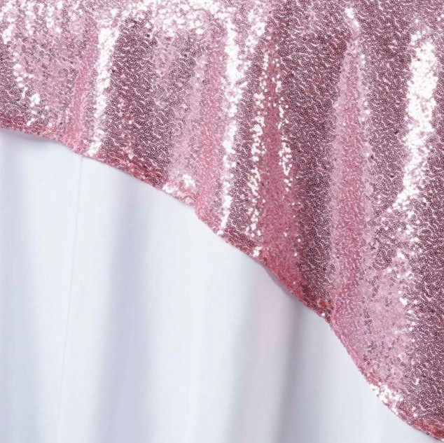 """72"""" Sequin Square Overlay Pink"""