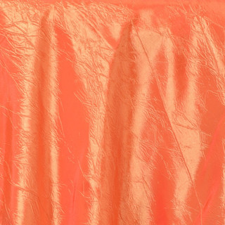 """72"""" Taffeta Crinkle Overlay Orange"""