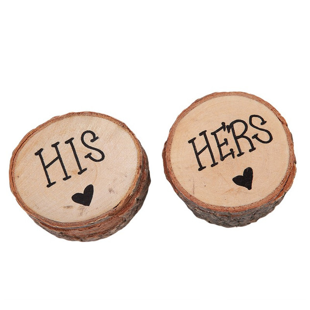 Rustic His & Hers Ring Boxes