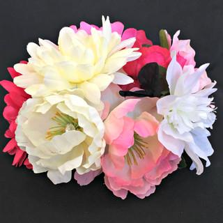 Floral Centerpiece Embellishment - Pink, Fuchsia, Black