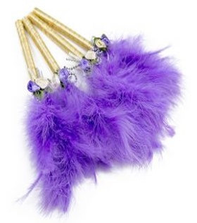 Feather Pen Purple