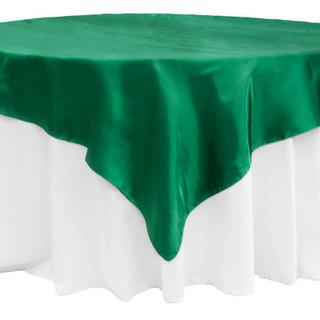 "72""  Satin Overlay Emerald Green"
