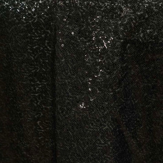 "72"" Sequin Square Overlay Black"