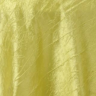 """72"""" Taffeta Crinkle Overlay Yellow"""
