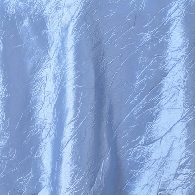 """72"""" Taffeta Crinkle Overlay Serenity Blue"""