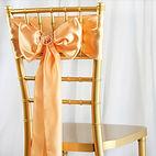 Satin Chair Sash Peach