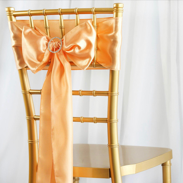 Satin Chair Sash Peach