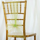 Organza Chair Sash Apple Green